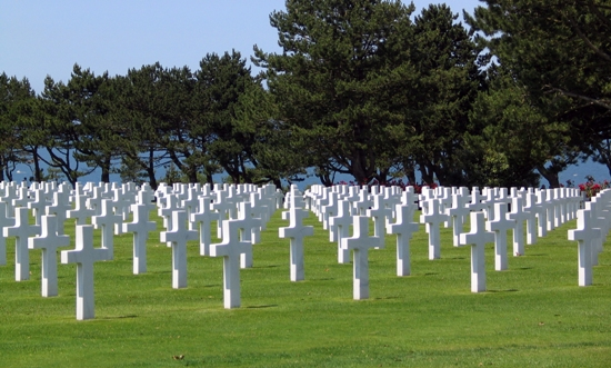 French D-Day cemetary in Normandy
